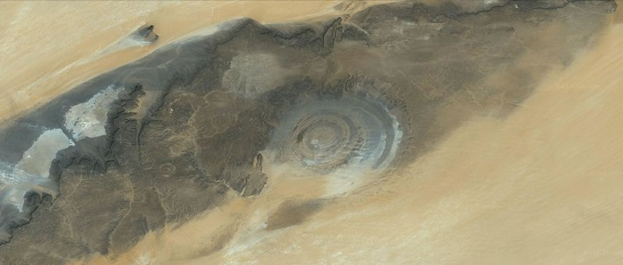 Eye of the Sahara Desert